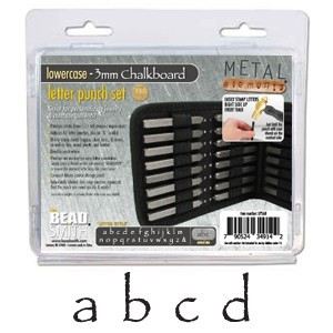 Beadsmith Chalkboard Alphabet Lower Case Letter 3mm Stamping Set - Beadsmith Metal Elements