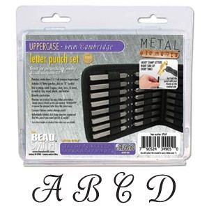 Beadsmith Cambridge Alphabet Upper Case Letter 6mm Stamping Set - Beadsmith Metal Elements