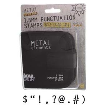 "1.5mm 1/16"" Punctuation Metal Stamping Set - Beadsmith Metal Elements"