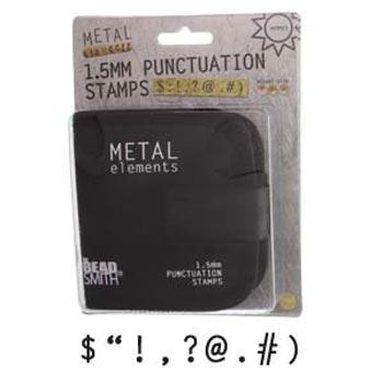 1.5mm 1/16 Punctuation Metal Stamping Set - Beadsmith Metal Elements