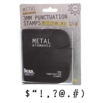 3mm 1/8 Punctuation Metal Stamping Set - Beadsmith Metal Elements