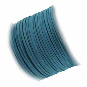 Faux Micro Suede Flat Cord 3mm - Dark Turquoise per metre