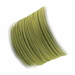 Faux Micro Suede Flat Cord 3mm - Light Olive per metre