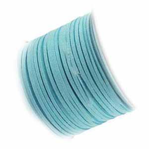 Faux Micro Suede Flat Cord 3mm - Aqua per metre