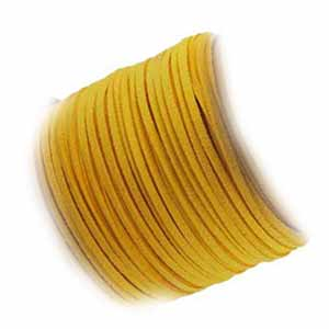 Faux Micro Suede Flat Cord 3mm - Sunflower per metre