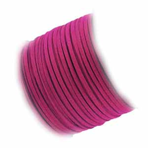Faux Micro Suede Flat Cord 3mm - Fuchsia per metre
