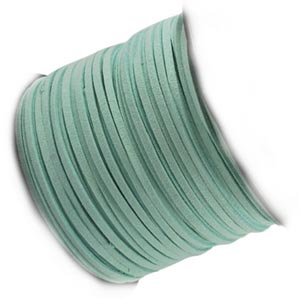 Faux Micro Suede Flat Cord 3mm - Duck Egg per metre
