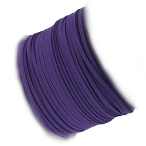Faux Micro Suede Flat Cord 3mm - Deep Purple per metre