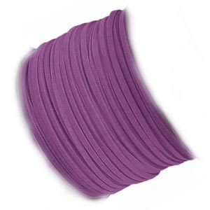 Faux Micro Suede Flat Cord 3mm - Deep Violet per metre