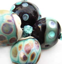 SOLD - Artisan Glass Lampwork Beads ~ Celeste II Set