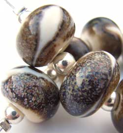 SOLD - Artisan Glass Lampwork Beads ~ Rivers Edge Set
