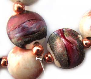 SOLD - Artisan Glass Lampwork Beads ~ Mars Set