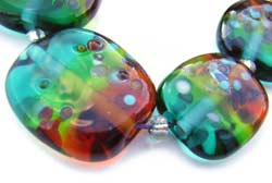 SOLD - Artisan Glass Lampwork Beads ~ Monet's Garden Sunset