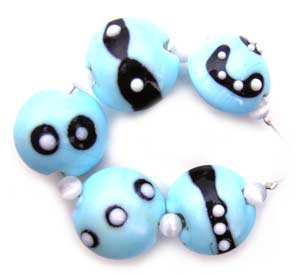 SOLD - Artisan Glass Lampwork Beads ~ Zalamah Set