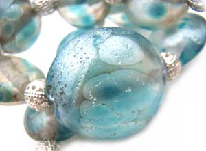 SOLD - Artisan Glass Lampwork Beads ~ Ice Kingdom Set ~ Ian Williams