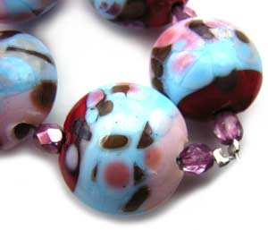 SOLD - Artisan Glass Lampwork Beads ~ Ice-cream Confetti Set