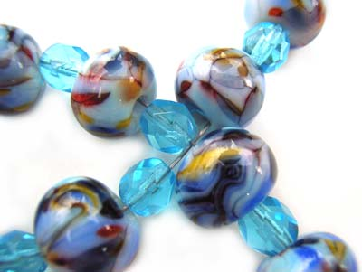 Spring Waltz Set Artisan Glass Lampwork Beads ~ Ian Williams