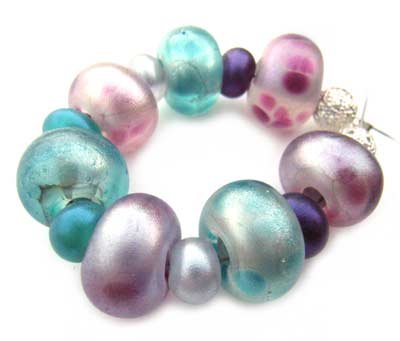 SOLD - Artisan Glass Lampwork Beads ~ Mystic Shimmer Set
