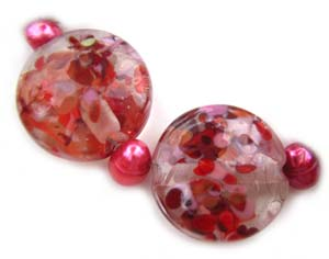 Sold - Artisan Glass Lampwork Beads ~ Sweet Romance Set ~ Ian Williams