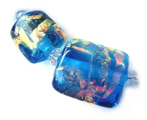 Rainbows End Set Dichroic Ian Williams Artisan Glass Lampwork Beads