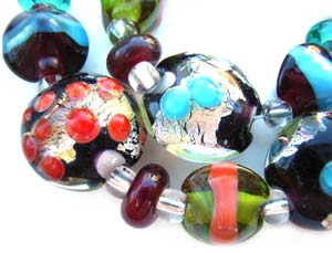 SOLD - Artisan Glass Lampwork Beads ~ Jewellery Box ~ Ian Williams