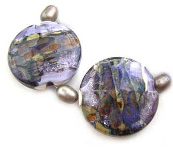 Sold - Artisan Glass Lampwork Beads ~ Tempest Set ~ Ian Williams