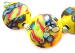 Summer of '69 Set Artisan Glass Lampwork Beads ~ Ian Williams