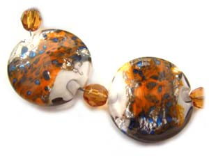 Safari Rain Set Artisan Glass Lampwork Beads ~ Ian Williams