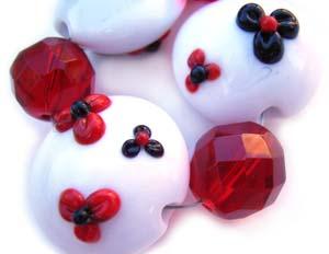 Takashi's Garden Set Artisan Glass Lampwork Beads ~ Ian Williams