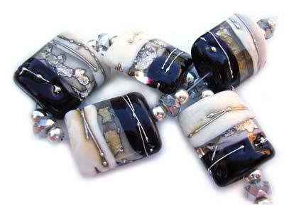 SOLD - Artisan Glass Lampwork Beads ~ Debutante Set