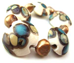 SOLD - Artisan Glass Lampwork Beads ~ Ru Set
