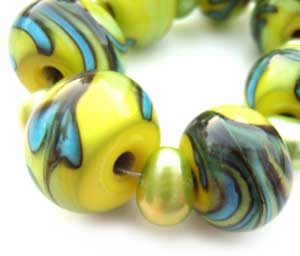 SOLD - Artisan Glass Lampwork Beads ~ Jive ~ Ian Williams