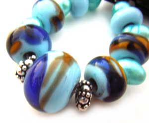 SOLD - Artisan Glass Lampwork Beads ~ Mardi Gras Set
