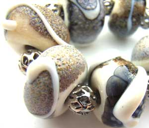 SOLD - Artisan Glass Lampwork Beads ~ Dreamtime