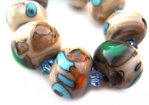 SOLD - Artisan Glass Lampwork Beads ~ Kandinski Set ~ Ian Williams
