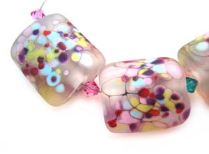 SOLD - Artisan Glass Lampwork Beads ~ Le Jardin d'Angelique Set - KGB