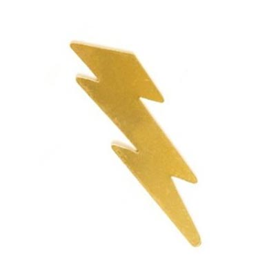 "Brass 2"" Lightning Bolt 49.3x14mm 24g Stamping Blank"