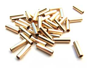 12kt Gold Filled 4x1mm Liquid Gold Tube Beads x25