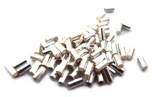 Sterling Silver .925 Liquid Silver 2x1mm Tube Beads approx x100 pack