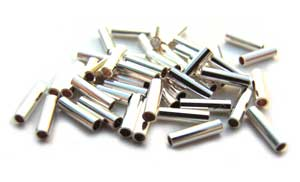 Sterling Silver Liquid Silver Tube Beads 4x1mm x1 gram (est 50)