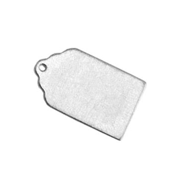Aluminium Soft Strike Luggage Tag 20.7x12.4mm 20ga Metal Stamping Blank x1