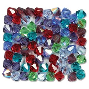 Preciosa Crystal Beads 3mm Bicone - Gemtones