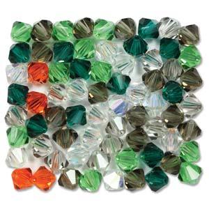 Preciosa Crystal Beads 4mm Bicone - Enigmatic Grey
