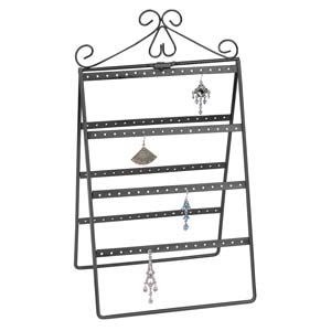 Earring Metal Display Stand - Holds 56prs 39x21cm