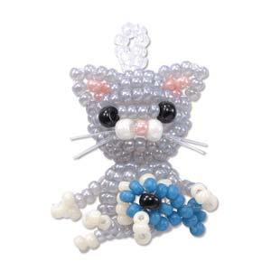 "Miyuki Seed Beads - Mascot Fan KIT no. 29 - ""Nini"" Cat Beaded Charm"