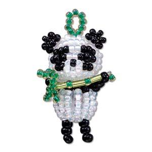 """Miyuki Seed Beads - Mascot Fan KIT no. 34 - """"Panpan"""" Panda Beaded Charm"""