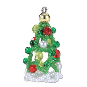 Miyuki Seed Beads - Mascot Fan KIT no. 37 - Christmas Tree Beaded Ornament