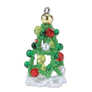 Miyuki Seed Beads - Mascot Fan KIT no. 37 - Christmas Tree Beaded Ornament
