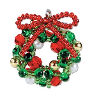 Miyuki Seed Beads - Mascot Fan KIT no. 39 - Christmas Wreath Beaded Ornament