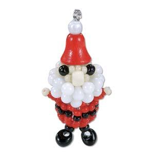 Miyuki Seed Beads - Mascot Fan KIT no. 41 - Christmas Santa Claus Beaded Ornament